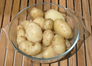 Jersey royals - leave the skins on for vitamin c. 100g will give you 25% of your daily intake. Brilliant source of complex carbs.